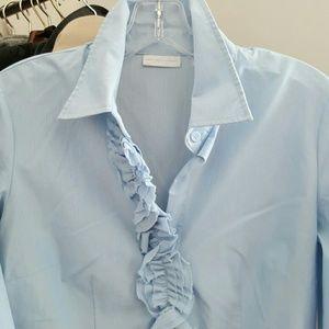 New York & Company Stretch Ruffle Shirt